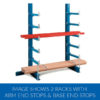 Adjustable Bar Racking Single Sided with end stops