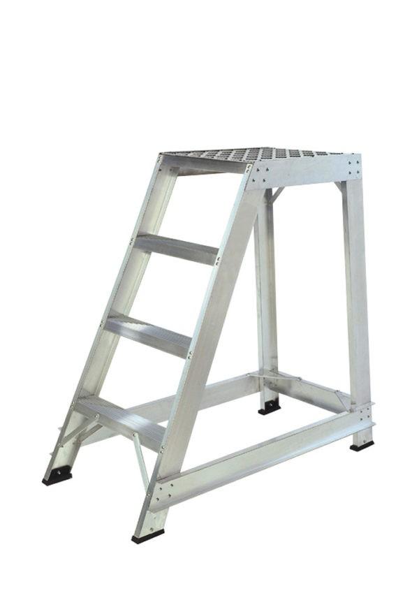 Aluminium Straight Back Trade Steps