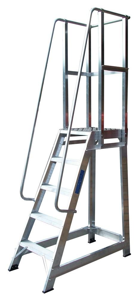 Aluminium Straight Back Trade Steps 2
