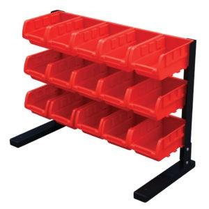 Storage Bin Rack with 15 bins
