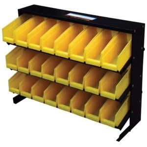 Bin Storage Rack with 24 bins