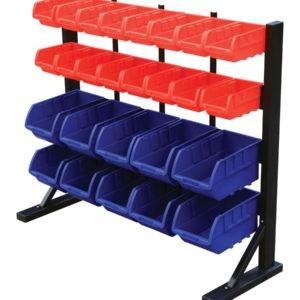 Storage Bin Rack with 26 Bins