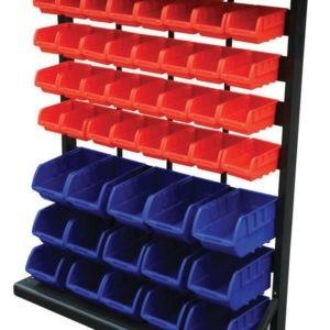 Bin Storage Rack with 47 Bins
