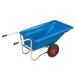Blue wheelbarrow