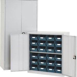 Budget Bin Cupboard Half Height With Bins Included