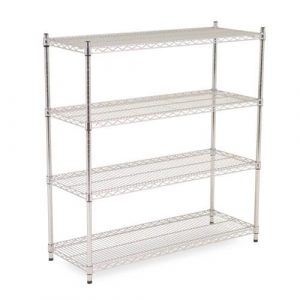 Chrome Wire Shelving 1600mm high