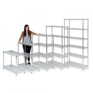 Chrome Wire Shelving 660-1860mm High