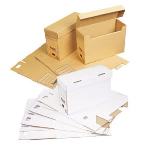 Flip Top Archive Storage Boxes - Pack of 20