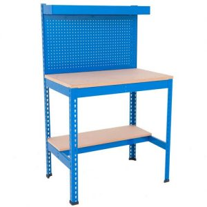 heavy duty work station with peg wall
