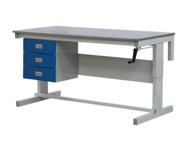 Heavy Duty Height Adjustable Workbenches with 3 drawers
