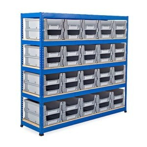 Heavy Duty Shelving Unit with Eurocontainers