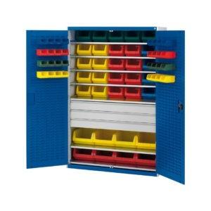 Heavy Duty Steel Bin Cupboard with 65 piece bin kit