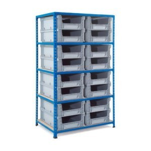 Medium Duty Shelving Unit with Eurocontainers