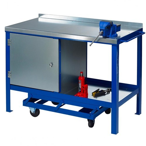 mobile workbench with vice