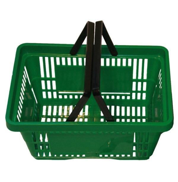 Plastic Shopping Basket - Green