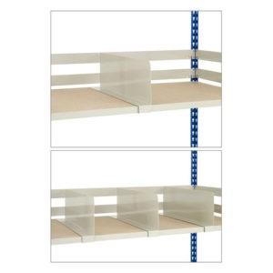 shelf dividers for medium duty shelving