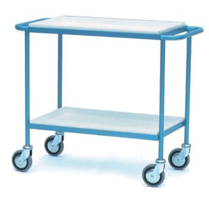 Tea Tray Trolley with 2 Steel Trays