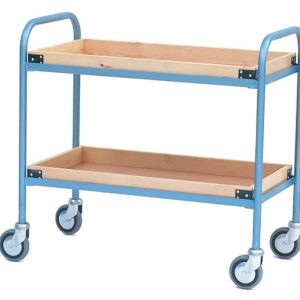 Tea Tray Trolley with 2 Wooden Trays