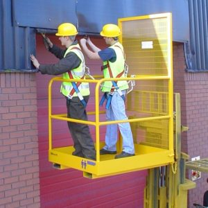 Twin Person Standard Forklift Cage 1