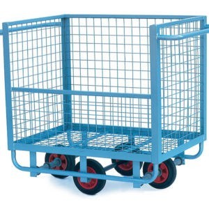 Warehouse Trolley with Mesh Cage