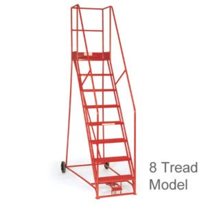 Warehouse Safety Steps with Foot Lock