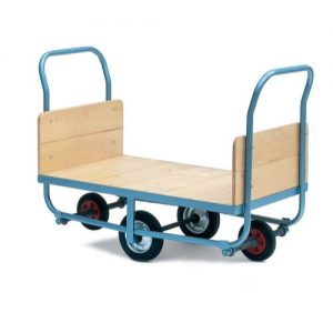 Warehouse Trolley with Wooden Ends