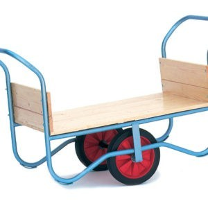 Wheelbarrow with Push Bars