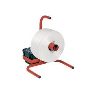 Static Strapping Dispenser with Integrated Plastic Tote