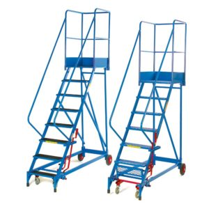 Fort Heavy Duty Mobile Steps with Aluminium Treads & Extra Large Platform