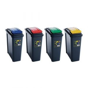 Recycling Bin with Hinged Lid - 25L