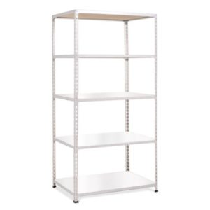 Medium Duty Shelving with 5 Levels 915mm Wide grey melamine