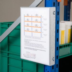 pallet racking notice plate
