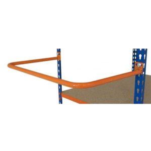 retaining hoop for medium duty shelving