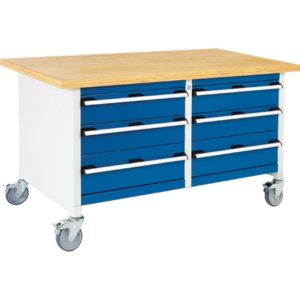 Mobile Storage Workbench with 6 Drawers