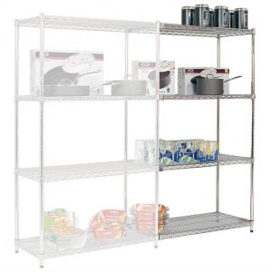 Chrome Wire Shelving 915-1220mm Wide Add On Bay