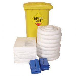 Workshop Spill Kit With Wheeled Bin