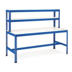workstation t bar blue melamine