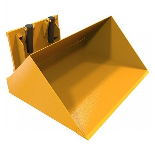 hydraulic forklift bucket carriage mounted