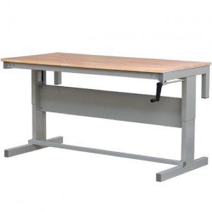 height adjustable workbench beech