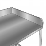 stainless steel bench chamfered corner
