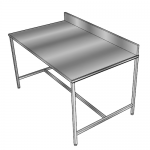 stainless steel workbench back upstand