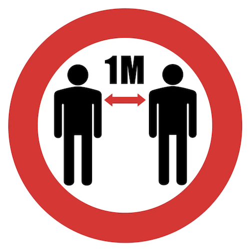 1m distance floor marker