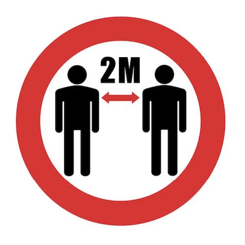 2m distance floor marker