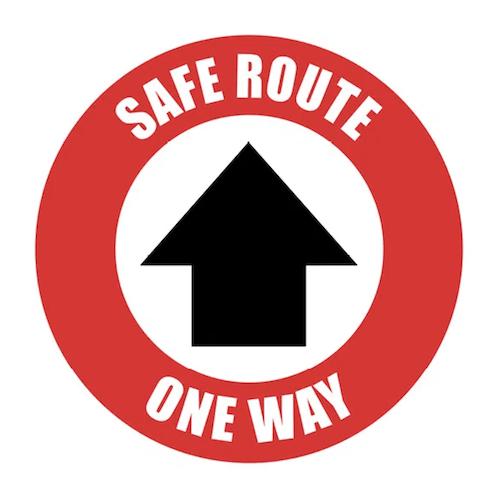 one way arrow floor marker