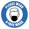 wear a mask floor marker