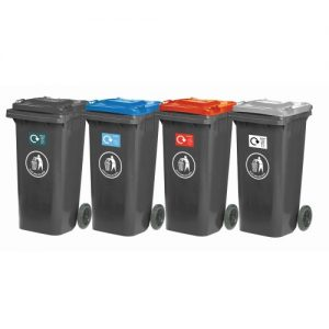 Wheelie Bins with Coloured Lids