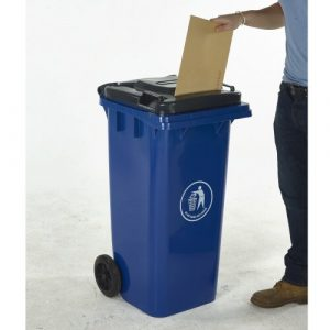 Wheelie Bin with Letter Slot Lid