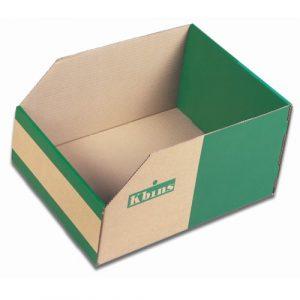Corrugated Cardboard Storage Bins - 200mm High
